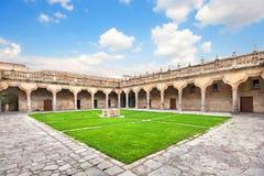 Courtyard of famous University of Salamanca, Castilla Leon, Spain Stock Images