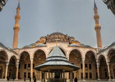 A looking to Fatih Mosque stock photo