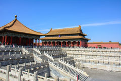 Courtyard of the Forbidden City in Beijing Royalty Free Stock Photography
