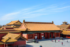 Courtyard of the Forbidden City in Beijing Stock Photos
