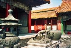 Courtyard in forbidden city, beijing Stock Photography