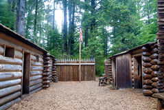 Courtyard at Fort Clatsop Oregon Royalty Free Stock Photography