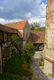 Courtyard of fortified church, Transylvania, Romania Royalty Free Stock Photography
