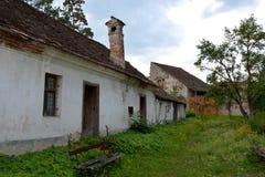 Courtyard of the fortified saxon medieval church Ungra, Transylvania Stock Image