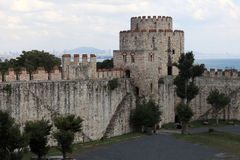 Courtyard of fortress of Seven Towers Stock Photos