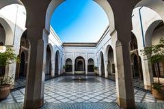 Courtyard with fountain, Bahia Palace,Morocco.  Royalty Free Stock Photos