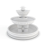 Courtyard fountain  on white background. 3d rendering Stock Photo