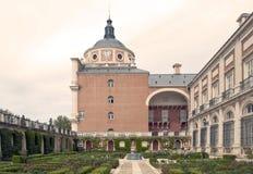 Courtyard with garden Royalty Free Stock Photos