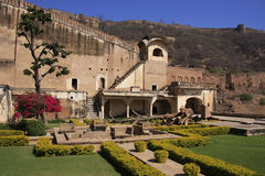 Courtyard garden, Bundi Palace, India Stock Photography
