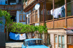 Courtyard, Georgian Republic Royalty Free Stock Photo