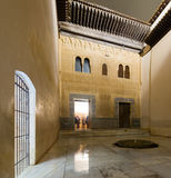 Courtyard of Gilded Room Cuarto dorado at  Alhambra Royalty Free Stock Photos