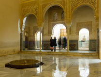 Courtyard of Gold Room   at Comares Palace, Alhambra Stock Image