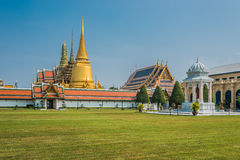 Courtyard grand palace Wat Phra Kaew Bangkok Thail Royalty Free Stock Photos