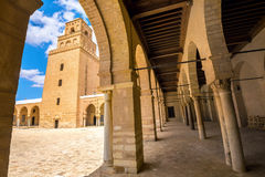 Courtyard of Great Mosque of Kairouan. Tunisia, North Africa Stock Images