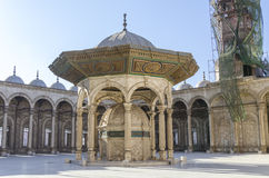 Courtyard of the Great Mosque of Muhammad Ali in C Royalty Free Stock Photo