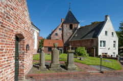 Courtyard of Greetsiel Church, Germany Stock Images