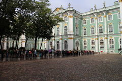 Courtyard of Hermitage,  museum of art and culture in Saint Petersburg Royalty Free Stock Image