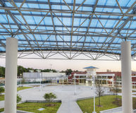 Courtyard at High School Stock Image