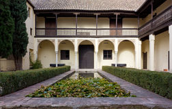 Courtyard of a Historic Islamic House in Granada Royalty Free Stock Image