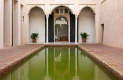 Courtyard of a Historic Islamic House in Granada Stock Photos