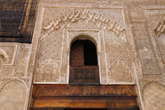 The courtyard of the historic Madrasa Bou Inania in the ancient Royalty Free Stock Photo