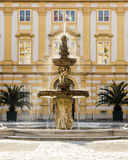 Courtyard of the historic Melk Abbey Stock Images