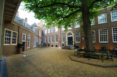 Courtyard. Historic courtyard of the old orphanage of amsterdam,which is a museum now Stock Photo