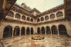 Courtyard of historical Albert Hall Museum with arches and columns Stock Photos