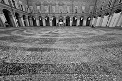 Courtyard in historical building Royalty Free Stock Images