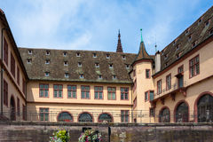 Courtyard of the Historical Museum of Strasbourg Stock Photo
