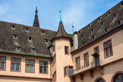 Courtyard of the Historical Museum of Strasbourg Royalty Free Stock Photography