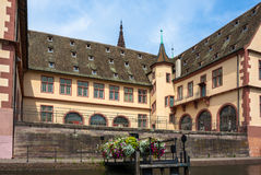 Courtyard of the Historical Museum of Strasbourg Stock Images