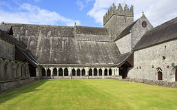 Courtyard of Holycross Abbey. Royalty Free Stock Photos