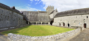 Courtyard of the Holycross Abbey. Stock Photo