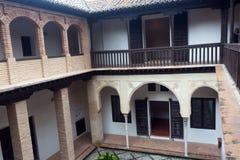 Courtyard of home of Hernan Lopez el Feri Casa de Hernan Lopez Stock Images