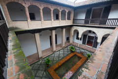 Courtyard of home of Hernan Lopez el Feri .  Granada,  Spain Stock Photography