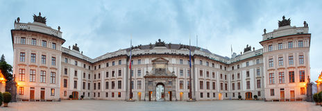 Courtyard of Honor in Prague Castle. Royalty Free Stock Images