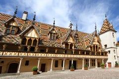 Courtyard of Hotel Dieu Stock Image