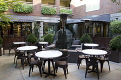 Courtyard of a hotel Stock Image
