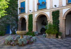 Courtyard of a  house in Cordoba, Spain Royalty Free Stock Images