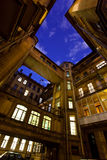 Courtyard of a house at night. Saint-Petersburg. Russia. Stock Images
