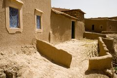 Courtyard house in a village in Morocco. House in a village in Morocco (Africa royalty free stock photography