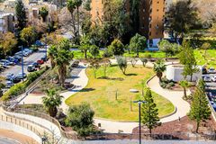 The courtyard between the houses. Tel Aviv Royalty Free Stock Photos