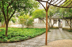 Courtyard in Humble Administrator's Garden. Humble Administrator's Garden is the representative works of Chinese Jiangnan classical garden.In 1997 was approved stock image