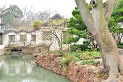 Courtyard in Humble Administrator's Garden. Humble Administrator's Garden is the representative works of Chinese Jiangnan classical garden.In 1997 was approved stock photography