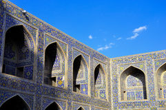 COURTYARD IMAM KHOMEINI MOSQUE ISFAHAN Royalty Free Stock Images