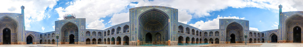 Courtyard of Imam Mosque. In Isfahan, Iran Stock Photo