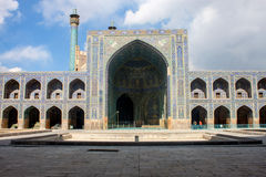 Courtyard of Imam Mosque in Isfahan Royalty Free Stock Image