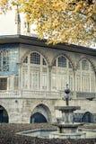 Courtyard (Imperial Courtyard) of Topkapi Palace, Istanbul, Turkey. Royalty Free Stock Photos