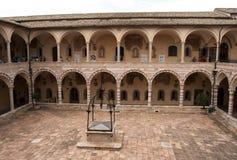 Courtyard inside the church of San Francesco royalty free stock photos
